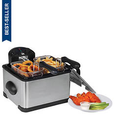 Elite 4-Qt. Dual-Basket Deep Fryer