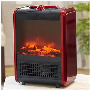 Comfort Zone Mini Fireplace Ceramic Heater - Opened Item