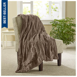 Ethereal Faux Fur Throw
