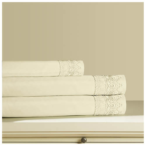 Venice Lace Microfiber Sheet Set