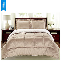 Sherpa Faux Suede Comforter Set - Opened Item
