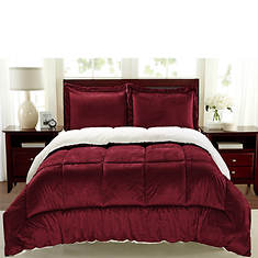 Sherpa Faux Suede Comforter Set