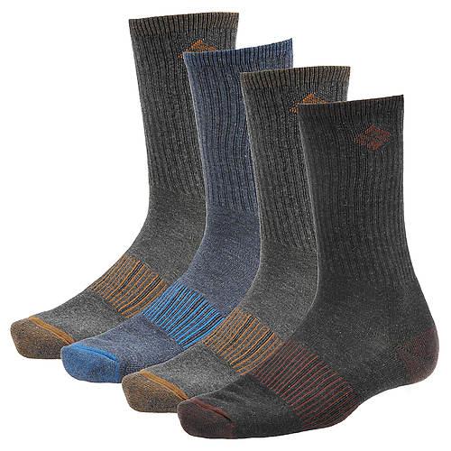 Columbia Medium-Weight Ribbed Casual Crew Socks 4-Pack (Men's)