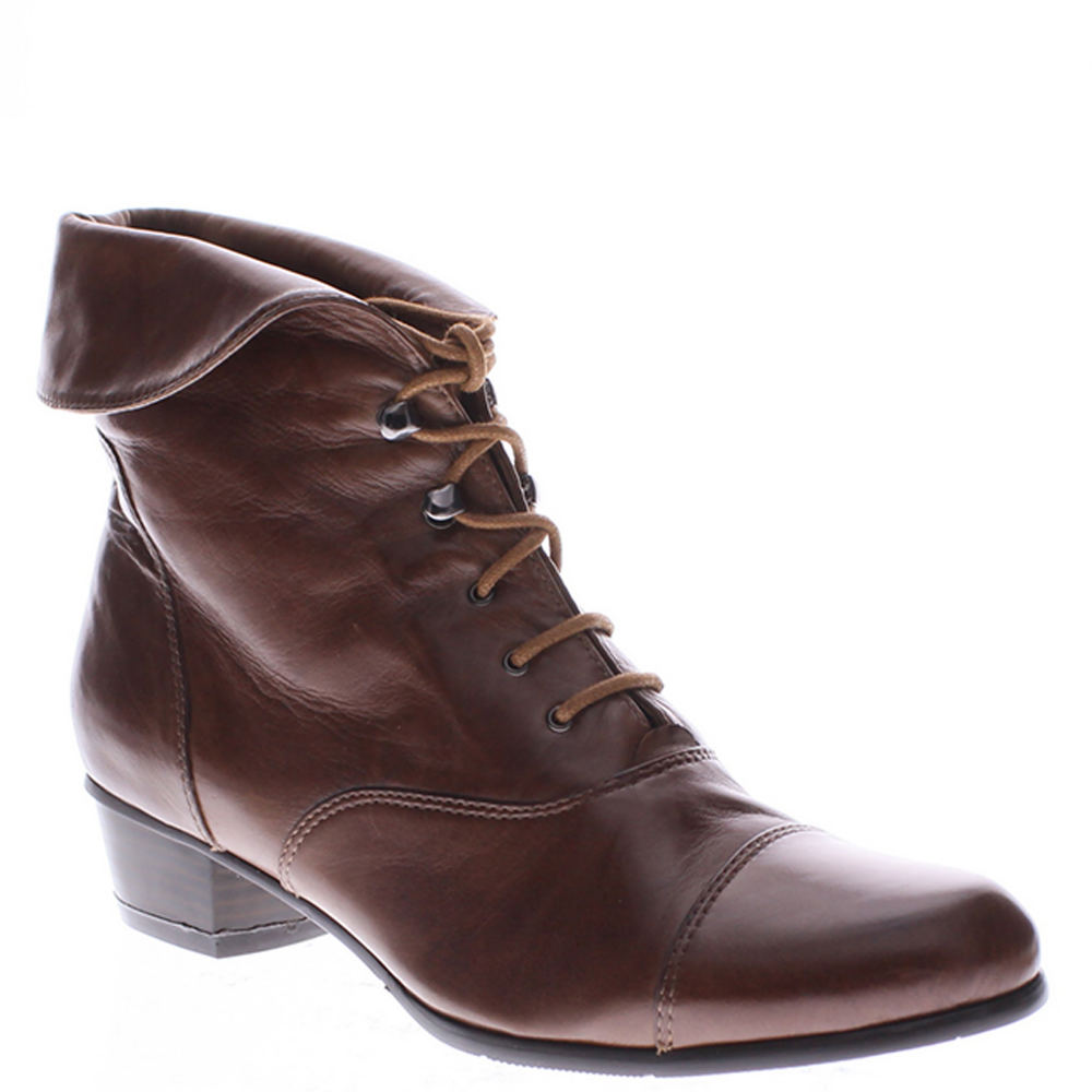 Edwardian Shoes & Boots | Titanic Shoes Spring Step Galil Womens Brown Boot Euro 39 US 8.5 M $169.95 AT vintagedancer.com