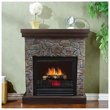 1250-Watt Polystone Electric Fireplace
