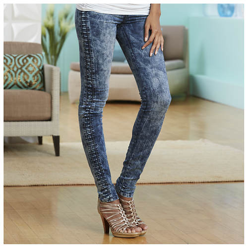 Side Pleat Skinny Jeans