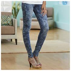 Side Pleat Skinny Jeans