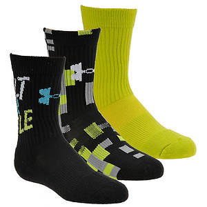 Under Armour Boys' 3-Pack Next Statement Crew Socks