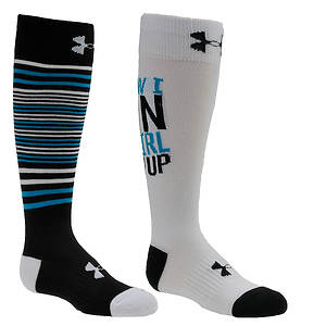 Under Armour Girls' 2-Pack Like A Girl Knee High Socks