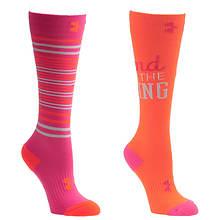 Under Armour Girls' 2-Pack Like A Girl Knee High Socks