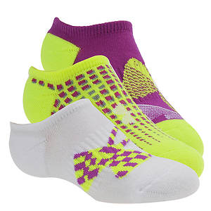 Under Armour Girls' 3-Pack Next Logo Solo Socks