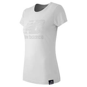 New Balance Women's Essential Plus Short Sleeve Logo Tee