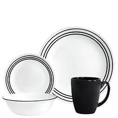 Corelle Onyx Black Livingware 16-Piece Dinnerware Set
