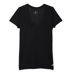 Adidas Women's 24 7 Deep V Neck Short Sleeve Tee