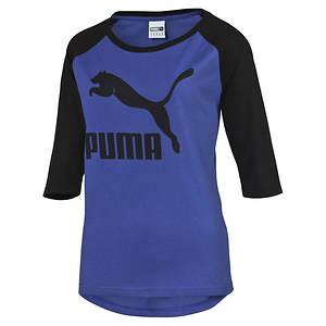 Puma Women's 3/4 Sleeve Raglan Tee