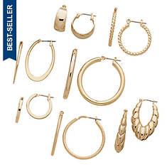 7-Pair Hoop Pierced Earring Set