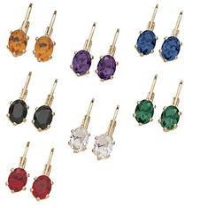 7-Pair Color Crystal Earrings Set
