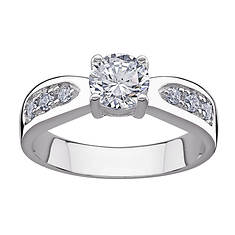 Sterling Silver CZ Women's Promise Ring