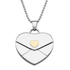 Stainless Steel Heart Envelope Locket