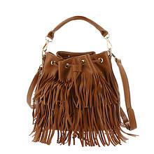 Urban Expressions Arizona Fringed Bucket Bag