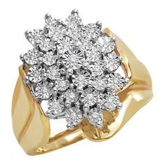 Women's Diamond Starburst Cluster Ring