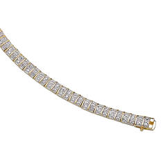 18K Gold-Plated Sterling Silver Diamond Tennis Bracelet