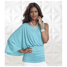 Cape Sleeve Ruched Top