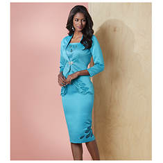 Open Work Skirt Suit