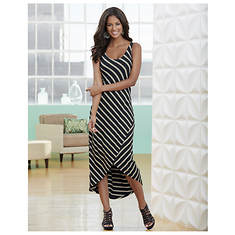 Stripe High-Low Dress