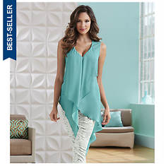 Angled Sleeveless Tunic