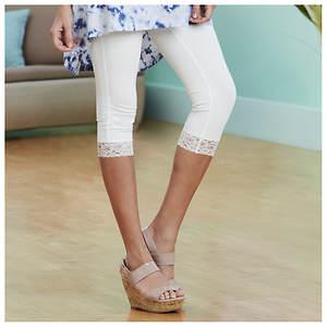 Everyday Lace Capri Legging