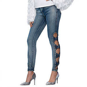 Peek-a-Bow Skinny Jeans