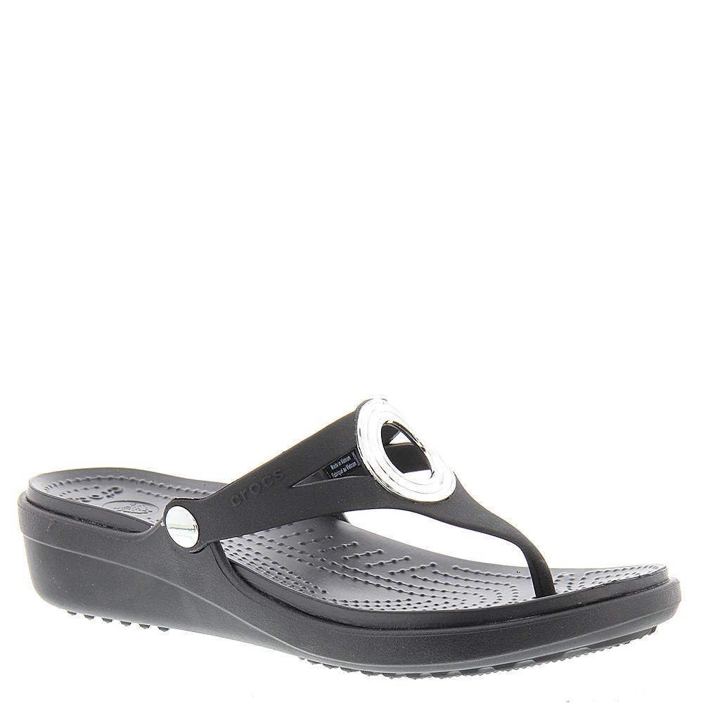 Crocs Sanrah Beveled Circle Wedge Flip Women S Sandal Ebay