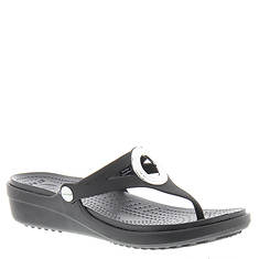 Crocs™ Sanrah Beveled Circle Wedge Flip (Women's)