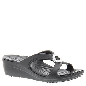 Crocs™ Sanrah Beveled Circle Wedge Sandal (Women's)