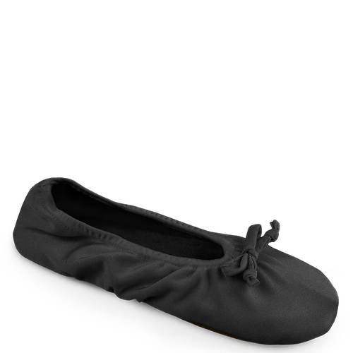 MUK LUKS Stretch Satin Ballerina Slppr (Women's)