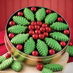 Holly and Berries Cookie Tin