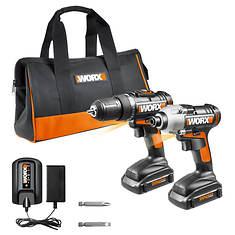 Worx® 20-Volt Li-Ion Cordless Drill & Impact Driver Kit