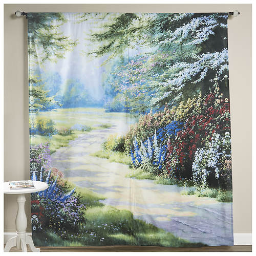 Endless Summer Window Art Curtains