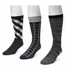 Muk Luks Men's 3-Pack Crew Socks