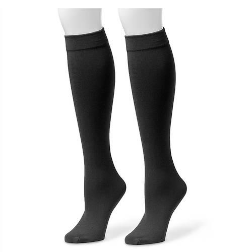 Muk Luks Women's 2-Pack Fleece Lined Knee High Socks