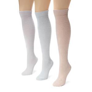 Muk Luks Women's 3-Pack Diamond Boot Socks