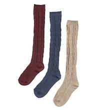 Muk Luks Women's 3-Pack Microfiber Knee High Socks