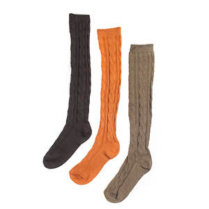 Muk Luks Women's 3-Pack Microfiber Knee High Socks