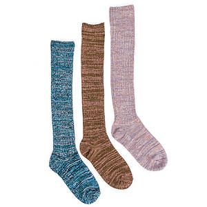 Muk Luks Women's 3-Pack Marl Knee High Socks