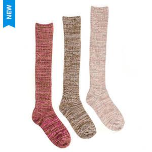 Muk Luks Women's 3-Pack Marl Knee High Socks