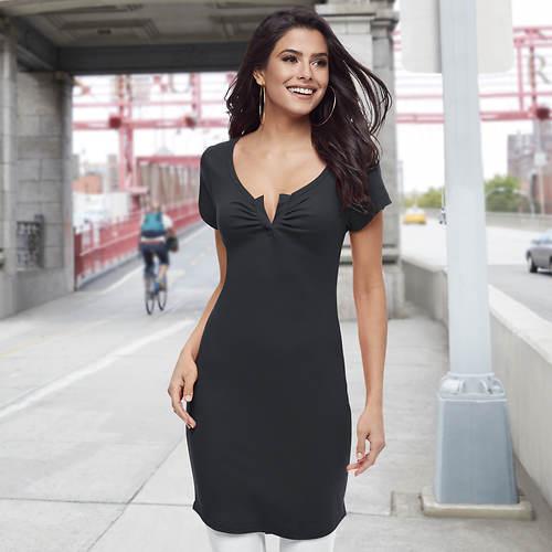 Notch Neck Dress