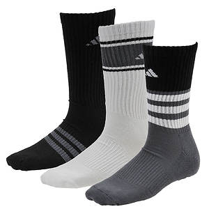 adidas Boys' Cushioned Assorted Color 3-Pack Crew Socks