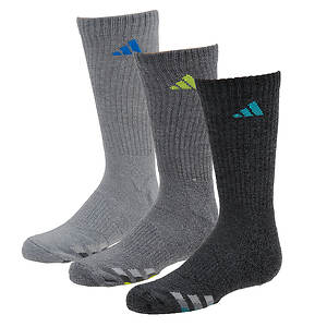 adidas Boys' Cushioned 3-Pack Crew Socks