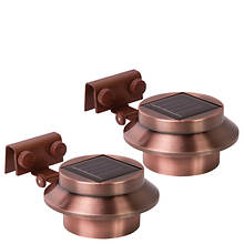 Rethink 2-Pack Copper Solar Gutter Lights